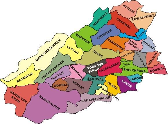 Urdu map logofmaps map of punjab province of pakistan shows its different districts gumiabroncs Images